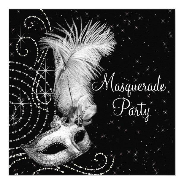 Elegant Black And White Masquerade Party