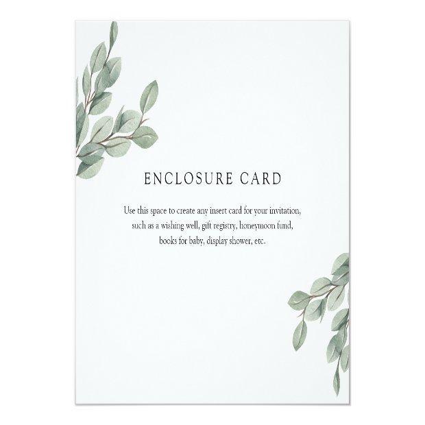 Eucalyptus Branch Enclosure Invitations