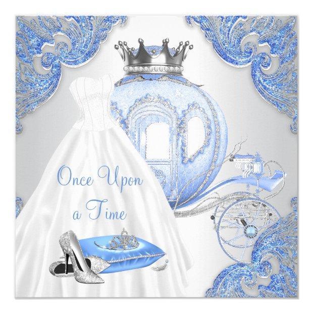 Fancy Cinderella Princess Birthday Party Invitations