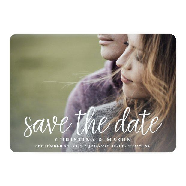 Handwritten | Double-sided Photo Save The Date Invitations