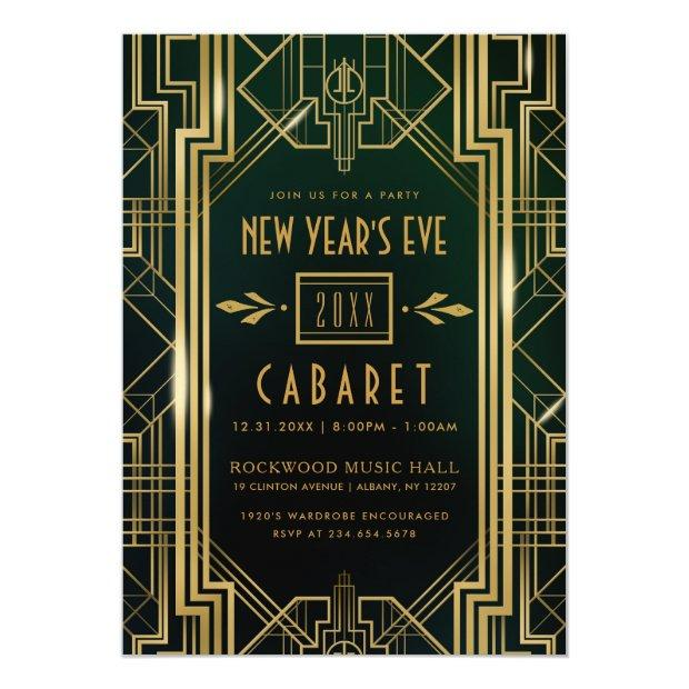 New Year's Eve Party Invitation   1920's Cabaret