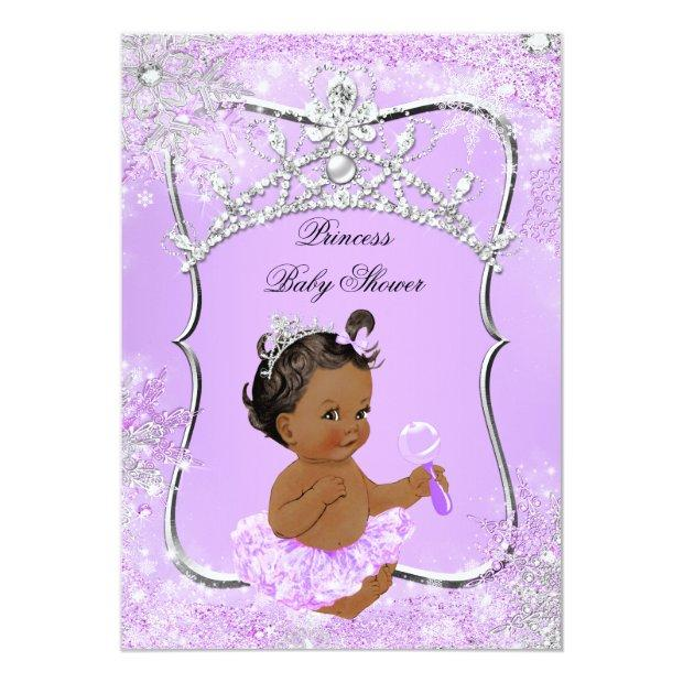 Princess Baby Shower Wonderland Lilac Ethnic Invitation
