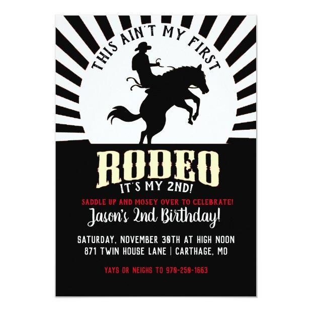 Rodeo Themed Second Birthday Invitation