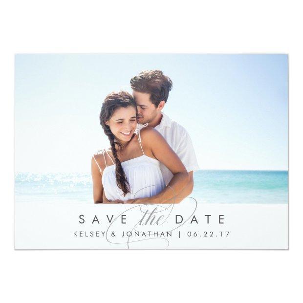 Simply Elegant | Horizontal Photo Save The Date