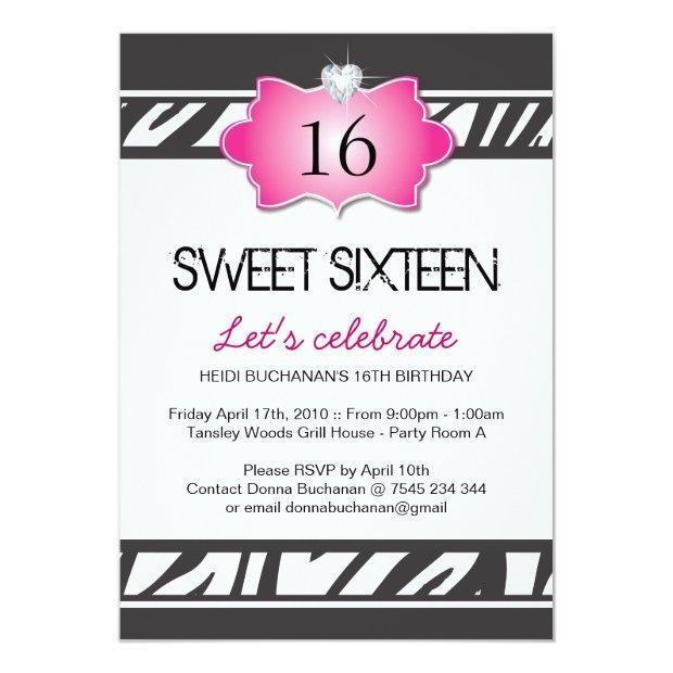 Sweet Sixteen Party Invitation