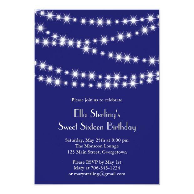 Twinkle Lights Birthday  (indigo)