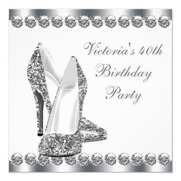 Womans Elegant White Birthday Party