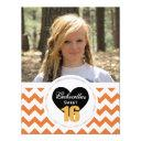 16th birthday chevron print: o &w party invitation