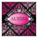 311 luxuriously pink damask sweet 16 invitations