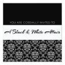 """a black & white affair"" party invitation"