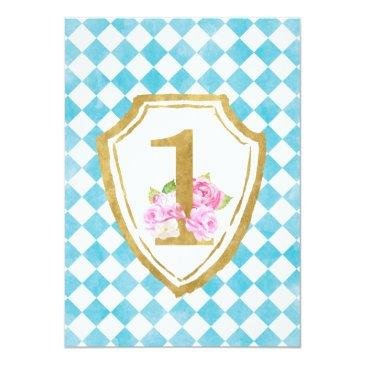 Small Alice In Onederland 1st Birthday Invitation Back View