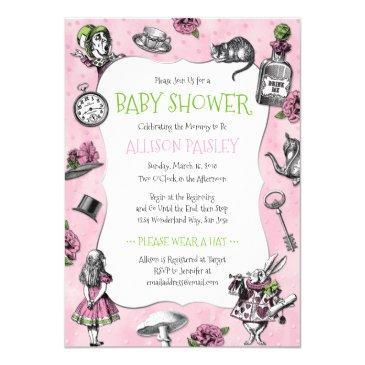 alice in wonderland pink baby shower