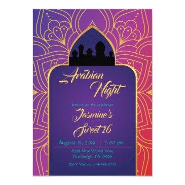 arabian nights birthday invitation, aladdin invitation
