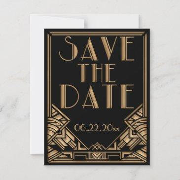 art deco gatsby style wedding save the date