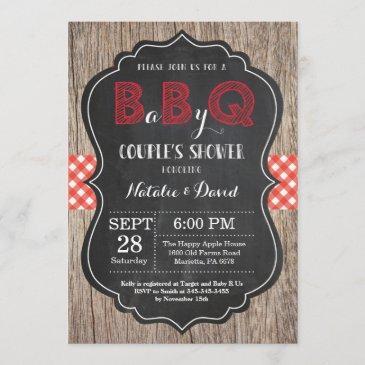 bbq couples shower invitation baby q backyard bash