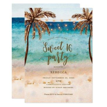 beach tropical modern sweet 16