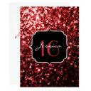 beautiful red glitter sparkles sweet 16