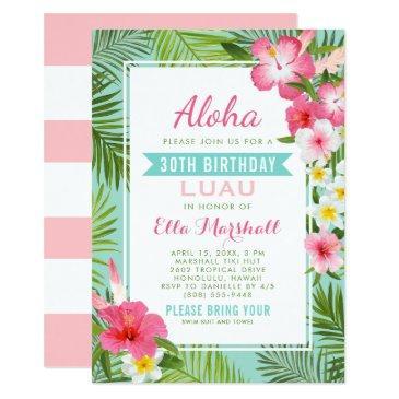 birthday luau  | tropical flowers