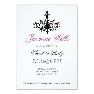 Small Birthday Party Invite | Chandelier |whp Front View