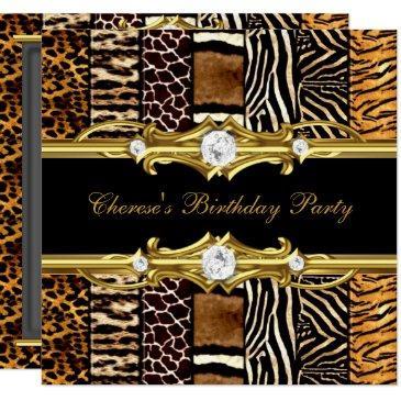 birthday party mixed animal prints gold black