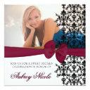 bowed damask accented invite [burgundy]