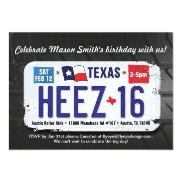 boy's 16th birthday texas license
