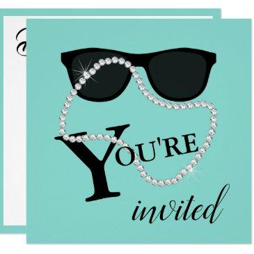 bride & co celebrate diamond tiara party shower invitation