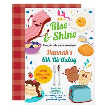 brunch breakfast invitation. kid children birthday invitation