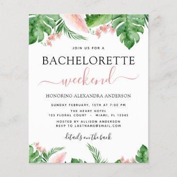 budget bachelorette weekend itinerary tropical