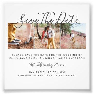 budget photo collage save the dates wedding