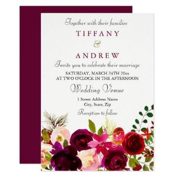 burgundy flowers floral elegant wedding