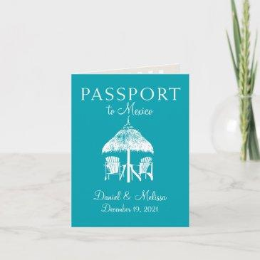 cancun mexico passport save the date announcement