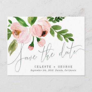 celebrate watercolor save the date post