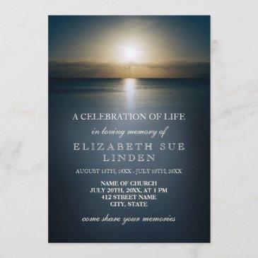 celebration of life | sun over the ocean invitation