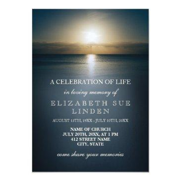 celebration of life | sun over the ocean invitations