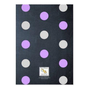 Small Chalk Lights Lavender 16th Birthday Sm Invitation Back View