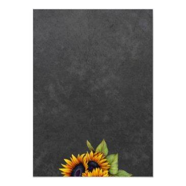 Small Chalkboard Sunflowers Chic Rustic Sweet Sixteen Back View