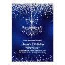 chandelier birthday invitation