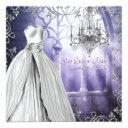 chandelier lavender purple quinceanera invitations