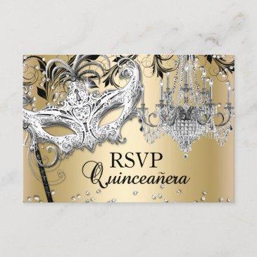 chandelier masquerade gold quinceanera rsvp