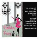 chandelier party dress any number girls birthday invitation