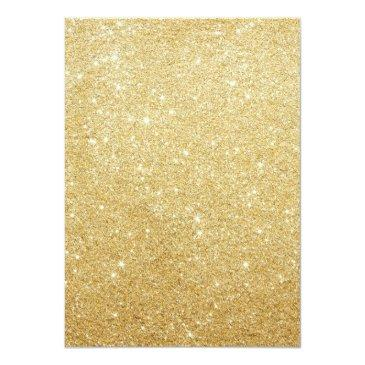 Small Chic Gold Butterflies Sweet 16 Invitations Back View