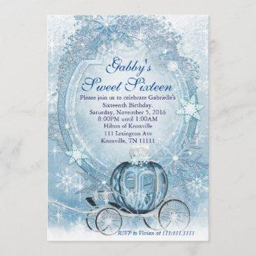 cinderella invitation, cinderella sweet sixteen invitation