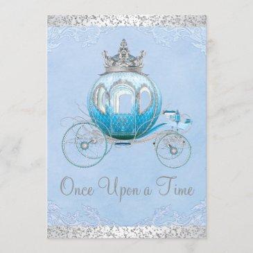 cinderella once upon a time princess birthday invitation
