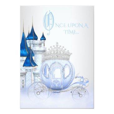 Small Cinderella Princess Birthday Invitations Front View