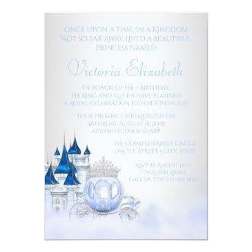 Small Cinderella Princess Birthday Invitations Back View