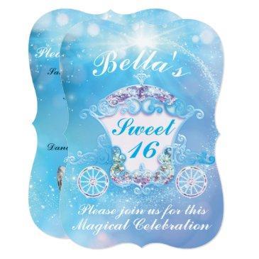 Cinderella Sweet 16 Invitations Rawrpink