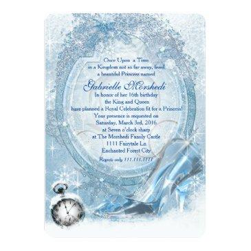 cinderella sweet 16 invitation