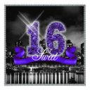 city lights sweet sixteen purple id119 invitation