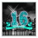 city lights sweet sixteen teal id120 invitation